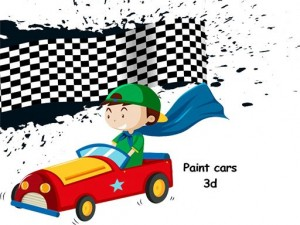 Cars 3D Color By Number